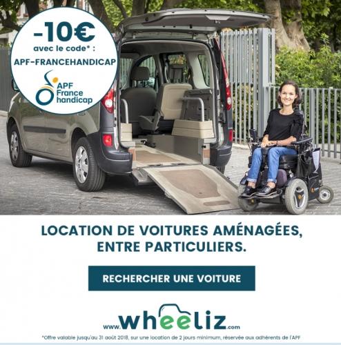 apf france handicap aude, dd11, délégation départementale apf france handicap de l'aude, location de véhicule adapté