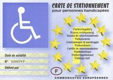 handicap, handicap moteur, carte européenne de stationnement, personnes à mobilité réduite, gratuité du stationnement pmr